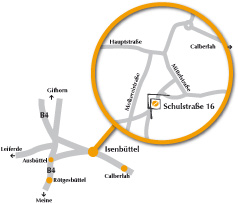 Anfahrt Therapiezentrum Isenbüttel