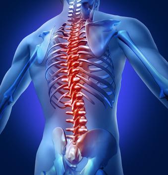 Behandlung von Rückenschmerzen durch Physiotherapie und Krankengymnastik