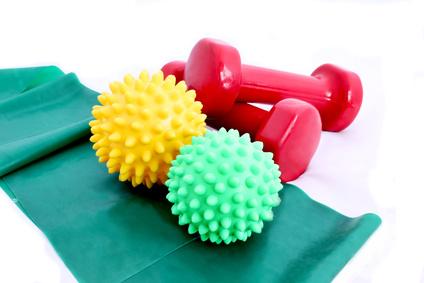 Geräte und Hilfsmittel in der Physiotherapie und Krankengymnastik